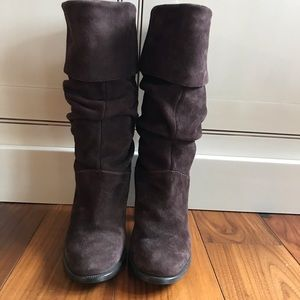 Brown Suede Franco Sarto Boot Size 35 (5)